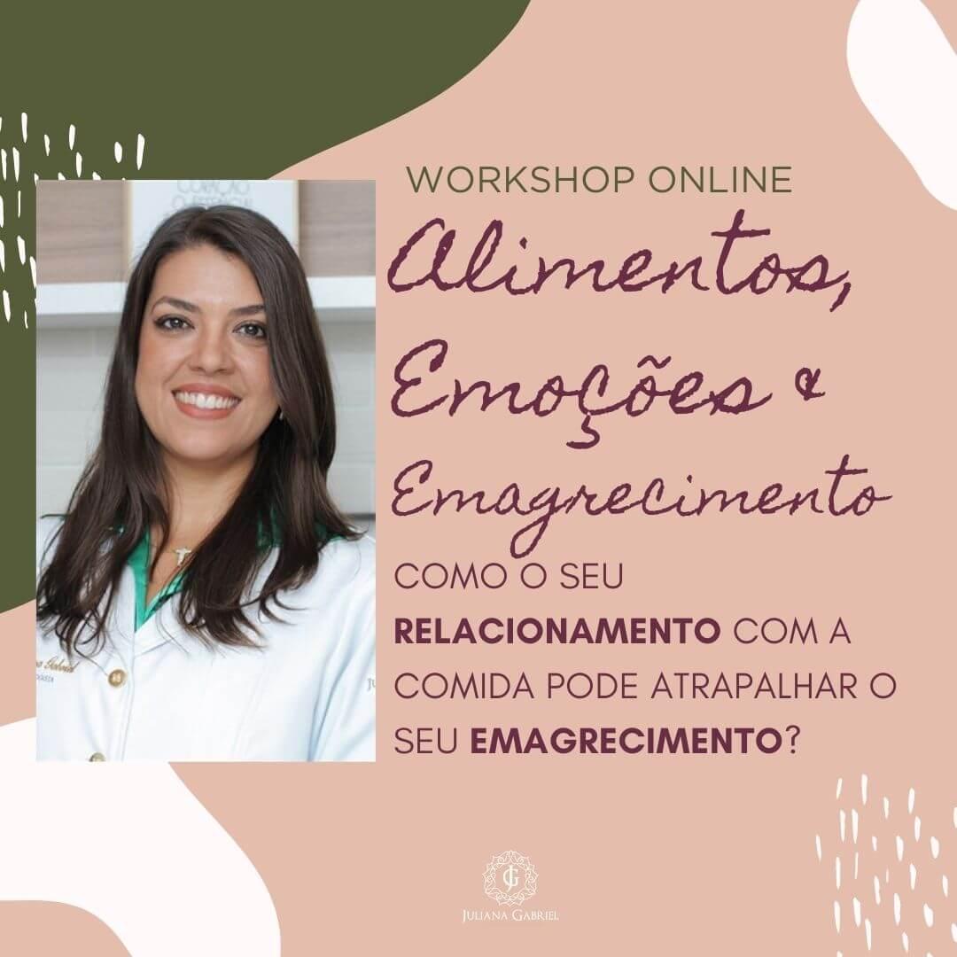 Workshop Online Alimentos, Emoções & Emagrecimento